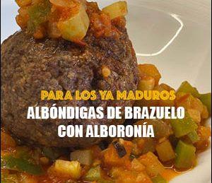 Albóndigas de brazuelo con alboronía
